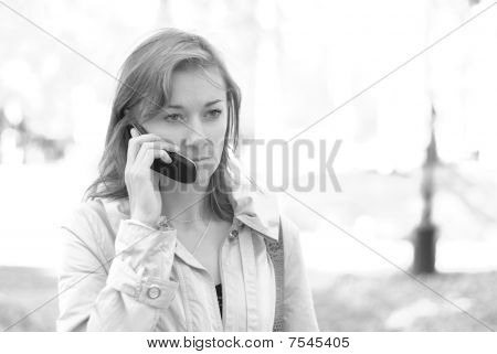 Female calling by phone