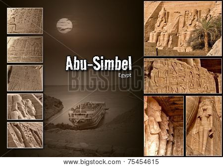 Collage of Abu-Simbel images