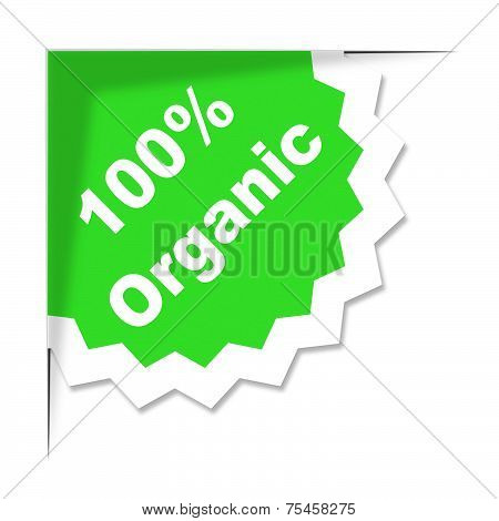 Hundred Percent Organic Shows Absolute Completely And Eco
