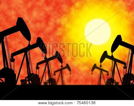 Oil Wells Means Industrial Nonrenewable And Extract