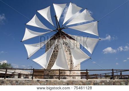Windmill In Antimahia, Kos; Greece