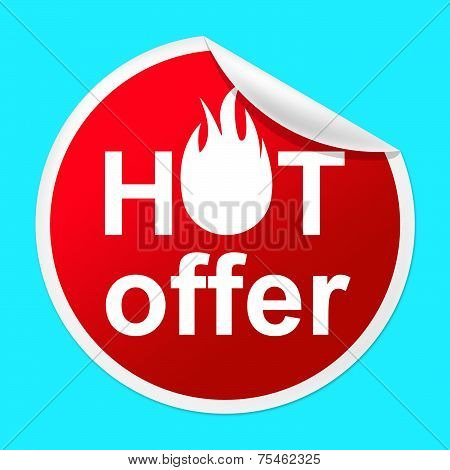 Hot Offer Sticker Means Number One And Cheap