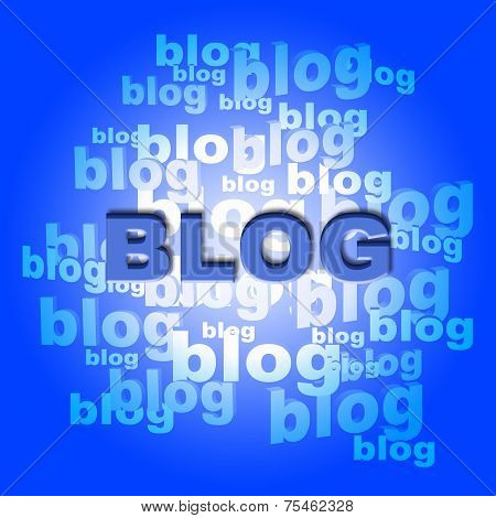 Blog Words Means World Wide Web And Blogger