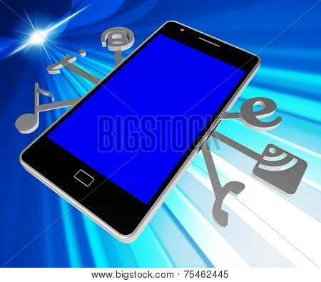 Social Media Phone Indicates World Wide Web And Blogs