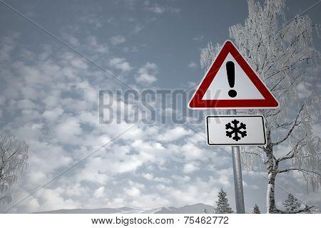 Winter Driving - Caution Snow