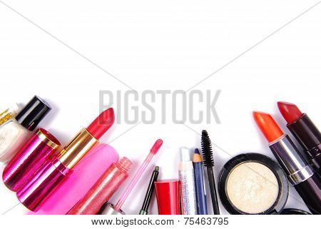 cosmetic set isoalted frame border background