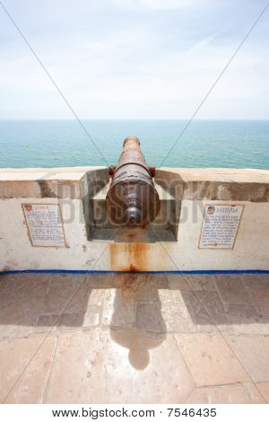 Cannon In Sitges (barcelona, Spain)