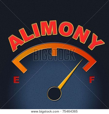 Alimony Gauge Shows Divorced Indicator And Divorce