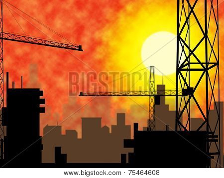 City Construction Indicates Constructing Constructed And Building