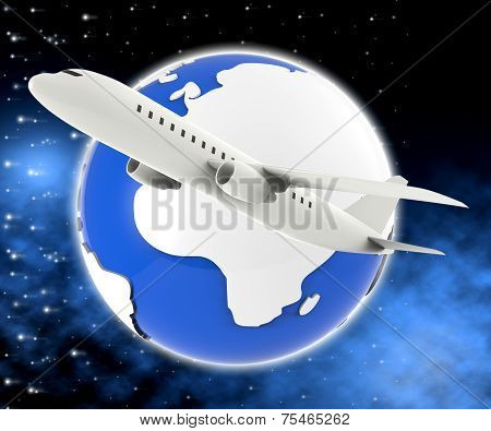 World Plane Means Travel Guide And Air