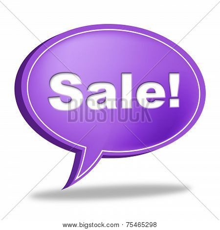 Sale Message Means Correspond Reduction And Messages