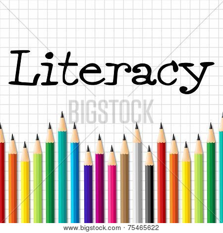 Literacy Pencils Represents Train Proficiency And Develop