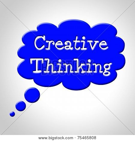 Creative Thinking Bubble Means Reflection Build And Contemplation
