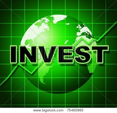 Invest Graph Means Return On Investment And Finance