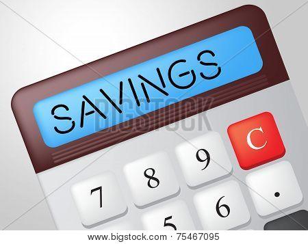 Savings Calculator Indicates Cash Increase And Wealth