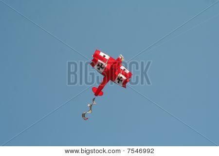 Red airplane kite