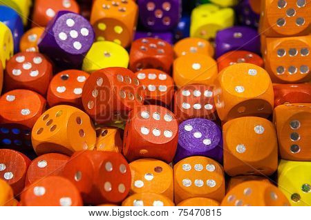 Background from colorful dice