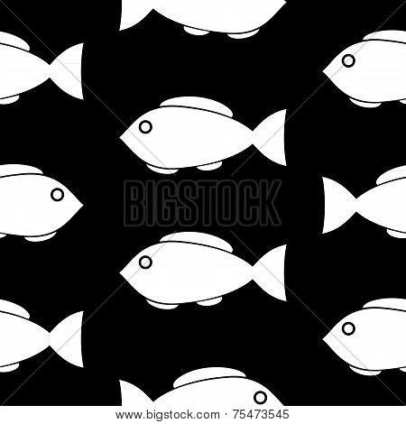 Fish Symbol Seamless Pattern