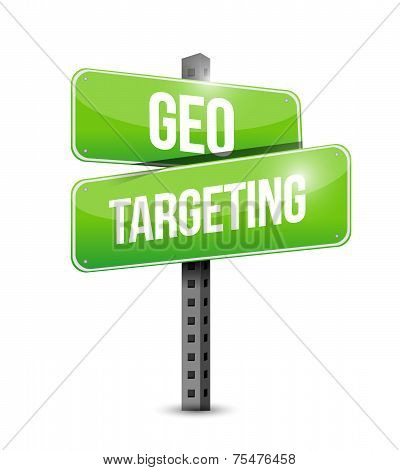 Geo Targeting Street Sign Illustration