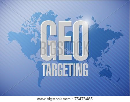 Geo Targeting Sign Illustration Design