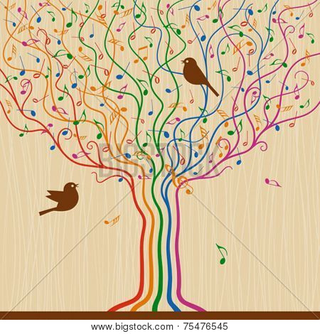 Musical Tree. Vector