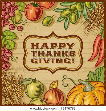 Thanksgiving Retro Card