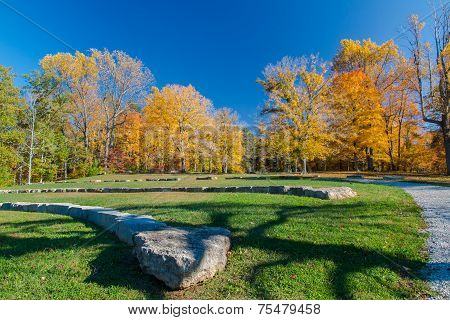 Amphitheatre In Autumn Park