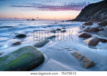 Porth Nanven Beach Sunset