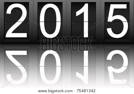 Happy New Year 2015, Digital Number