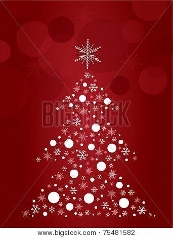 christmas tree design art vector