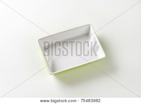 empty baking tray on white background