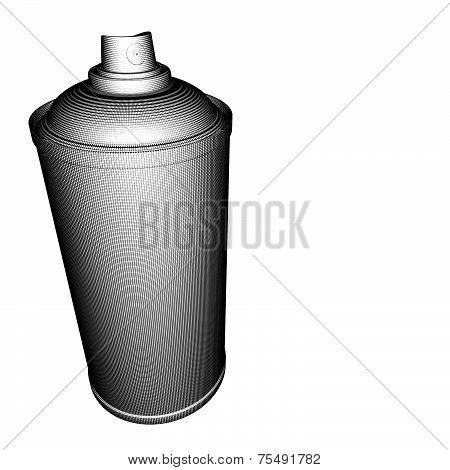Spraycan Illustration Grid Pattern In Black And White