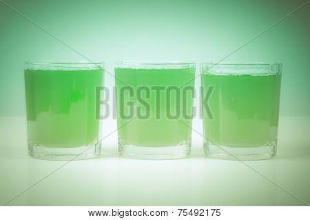 Retro Look Green Apple Juice