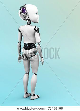 Robot Child Standing
