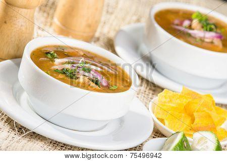 Delicious encebollado fish stew from Ecuador