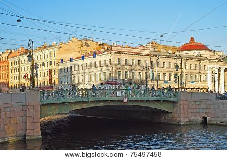 Green Bridge In Saint Petersburg, Russia