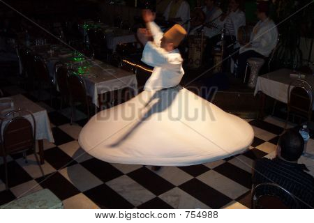 Whirling Dervish dancing in Damascus, Syria