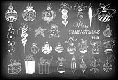 stock photo of christmas bells  - Christmas baubles - JPG