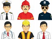 image of officer  - A vector set of construction worker - JPG