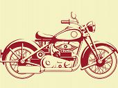 pic of motorcycle  - A vector image of old motorcycle - JPG