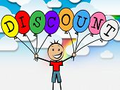 picture of youngster  - Discount Balloons Indicating Sale Savings And Youngsters - JPG
