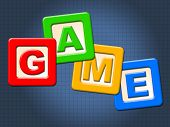 stock photo of youngster  - Game Kids Blocks Indicating Play Time And Youngster - JPG