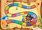 foto of pirate sword  - Pirate boardgame theme with parrot - JPG