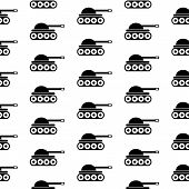 picture of panzer  - Panzer symbol seamless pattern on white background - JPG