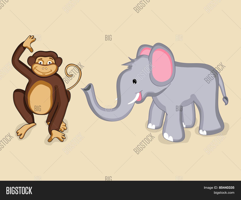 cute cartoon smiling elephant vector u0026 photo bigstock