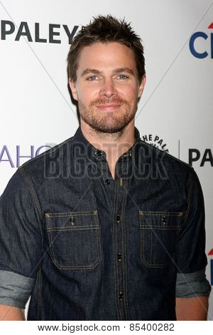 LOS ANGELES - MAR 14:  Stephen Amell at the PaleyFEST LA 2015 -