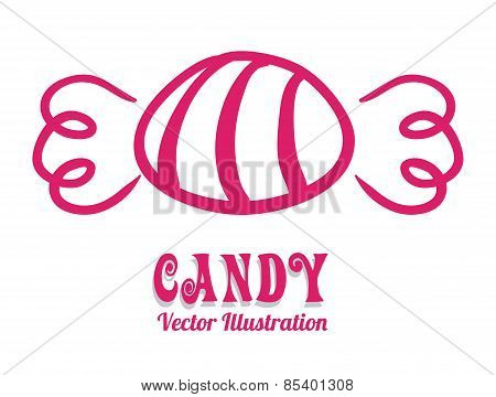 Candy over white background vector illustration