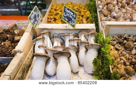 Fresh Vegetables In French Market In Paris