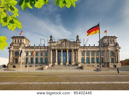 View on Reichstag in Berlin, Germany