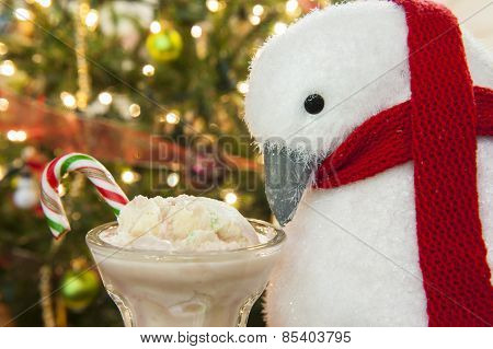 Penguin And Candy Cane Ice Cream